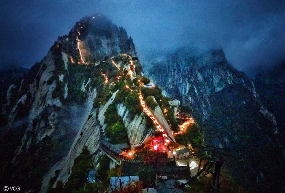 Huashan Mountain in Weinan