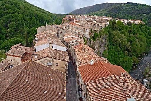 Stunning CASTELLFOLLIT DE LA ROCA, Province of Girona, Catalonia, Spain