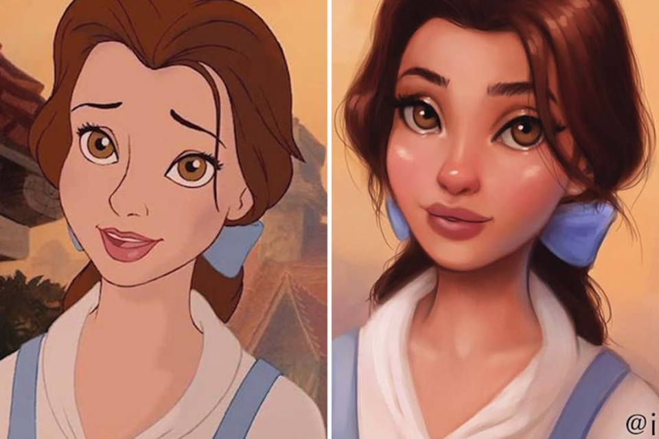 This llustrator Repaints Disney Princesses In Her Unique Style