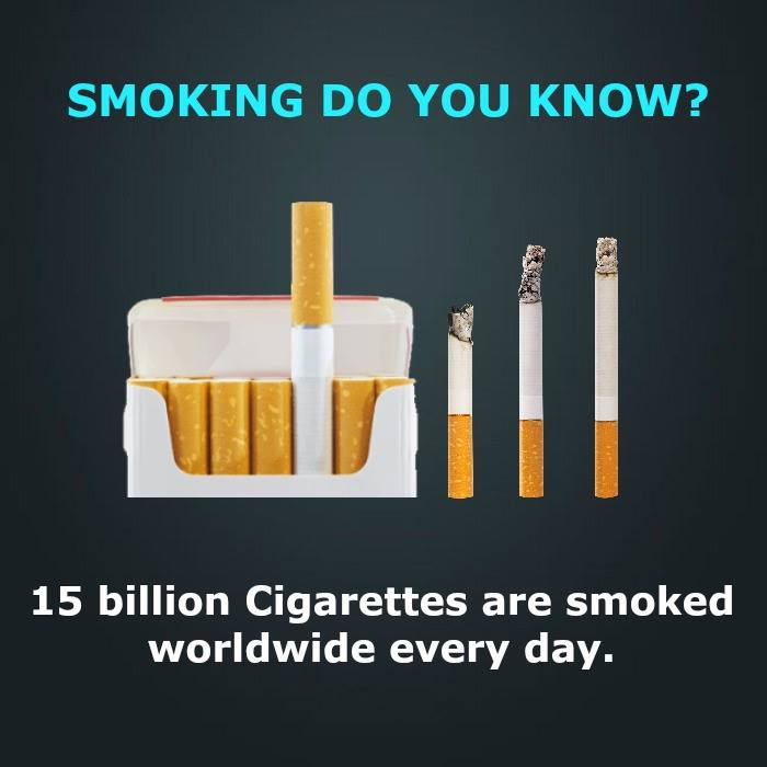 15 Interesting facts about smoking