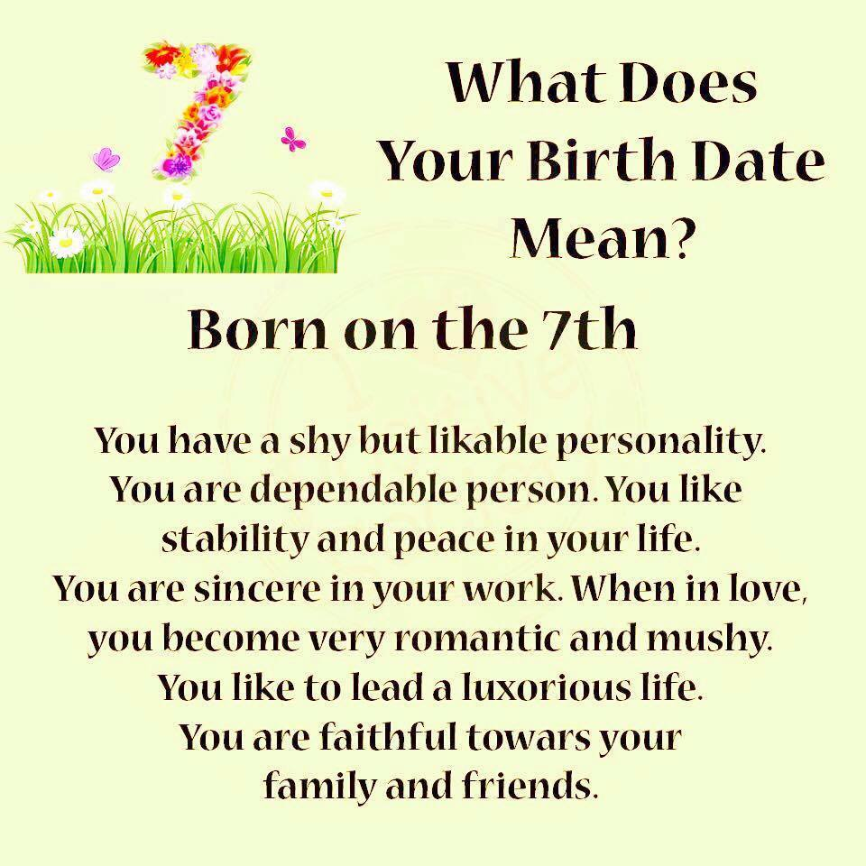 What Does Your Birth Date Means?