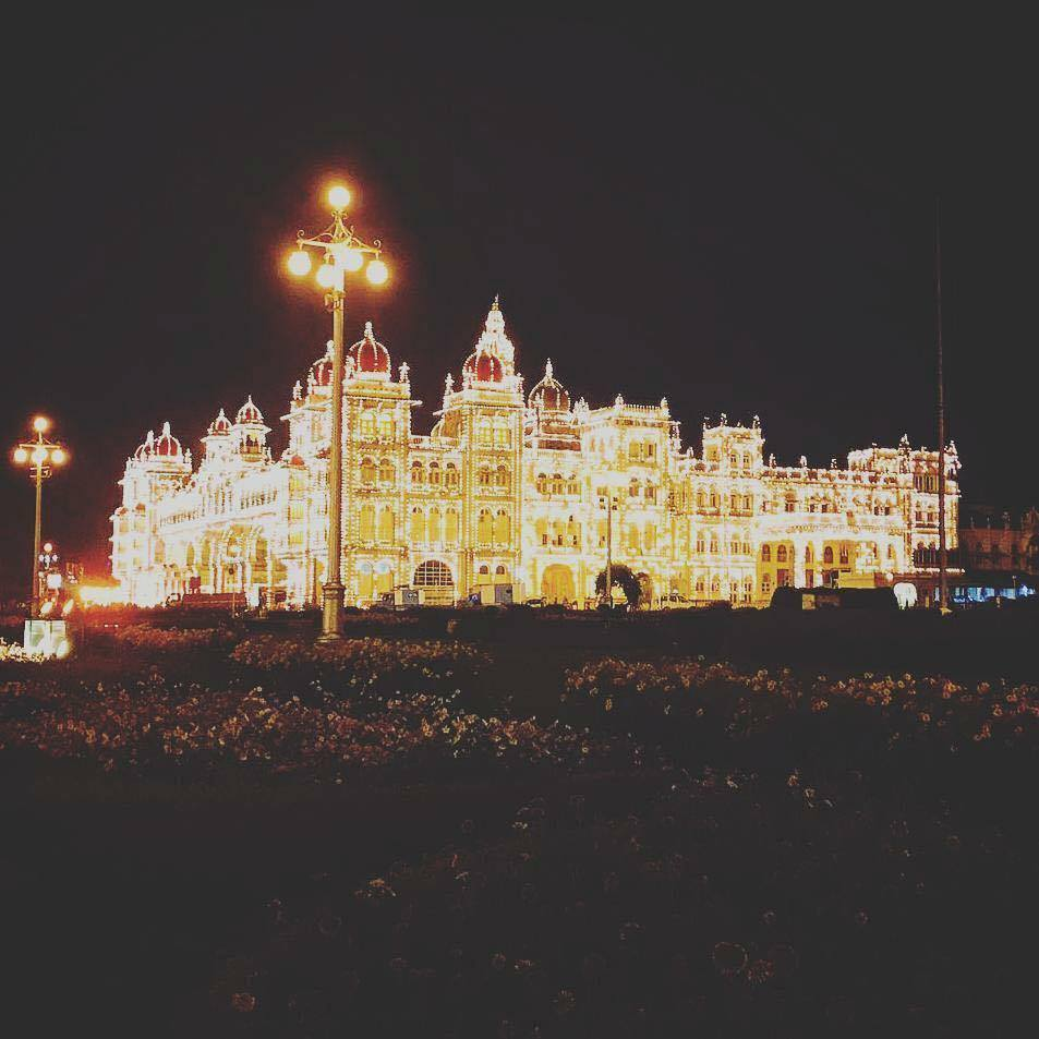 Amazing Night View of Mysore Palace