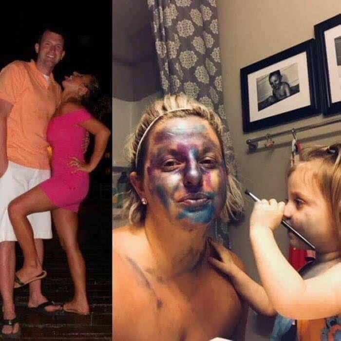 Parents Share Photos Of Them Before And After Having Kids, And The Difference Is Hilarious (18 Pics)