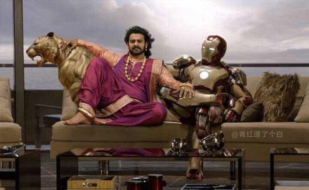 Image result for mash up of Marvel universe with that of Mahishmati
