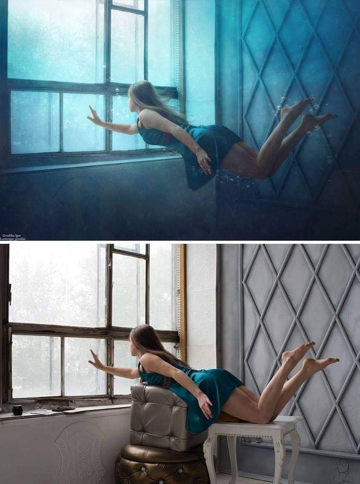 Behind The Scenes Of Stunning Photographs (18 Pics)
