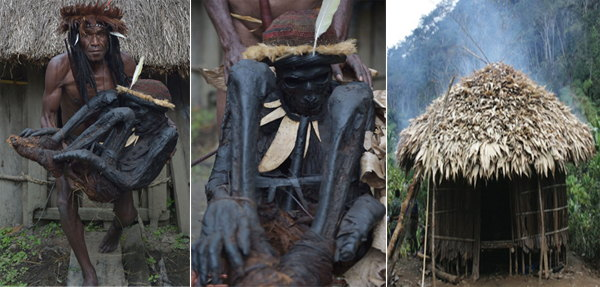 TRIBE DEATH RITUAL - Dani tribe In Papua New Guinea Makes Their Dead Into Mummies