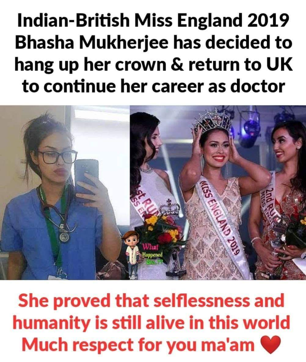Miss England Bhasha Mukherjee Picks Up A Stethoscope Amid COVID-19