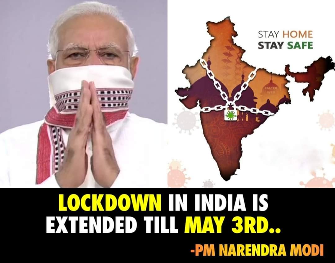 India Extends Lockdown Till May 3rd | #Corona Updates