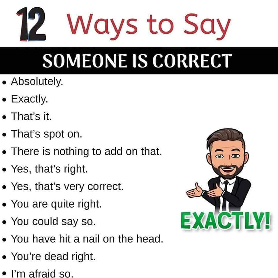 English Lessons - Other ways to say a word!