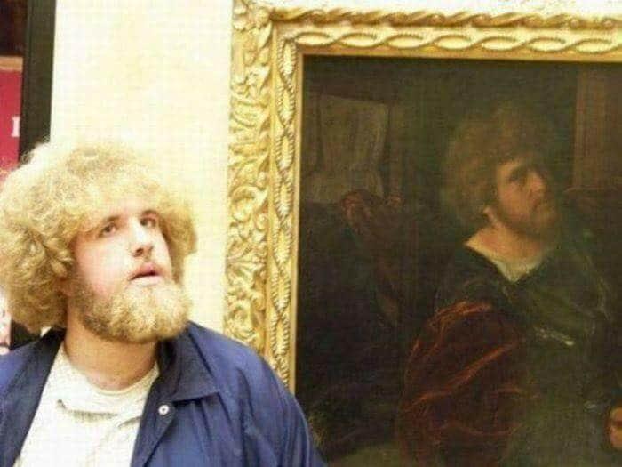 People find Doppelgangers in art! (10 Pics)