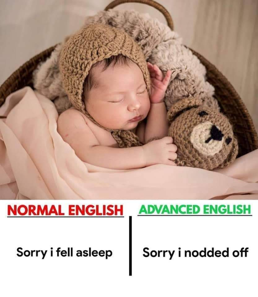 Normal English vs Advanced English (5 Pics)   English Lessons