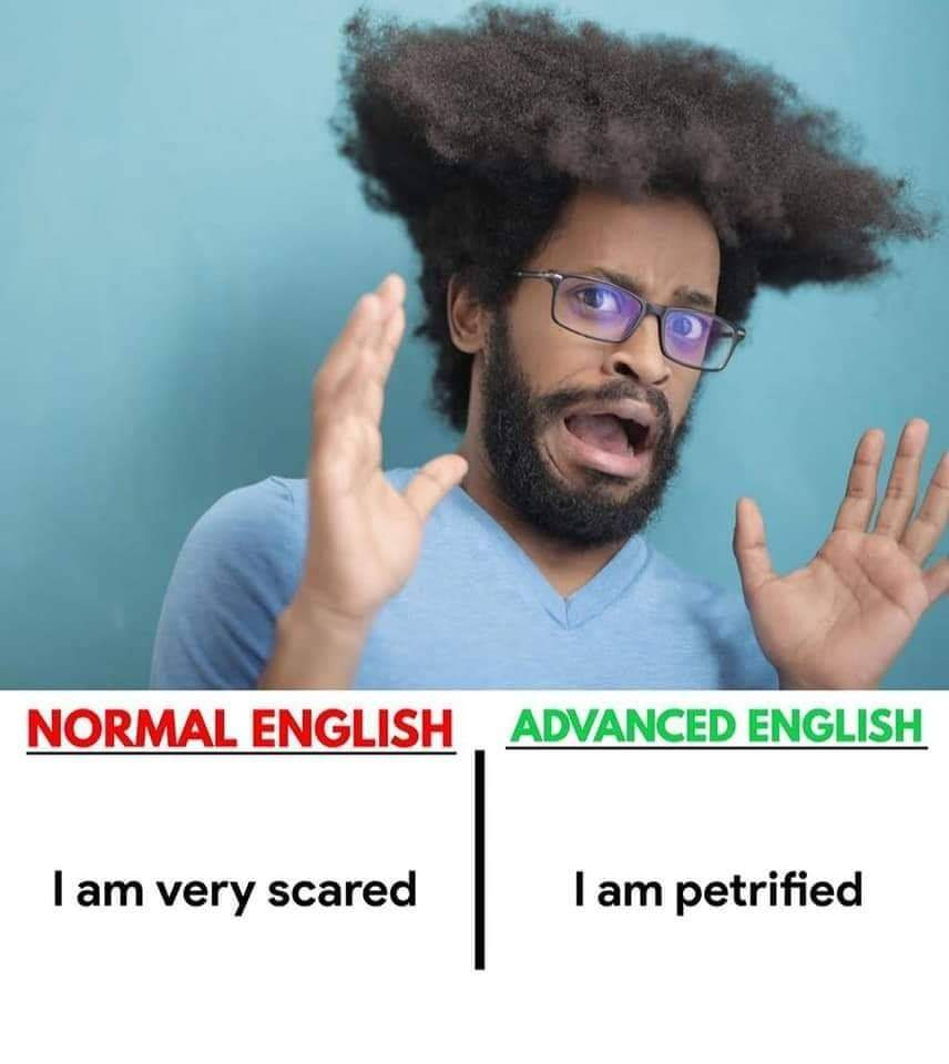 Normal English vs Advanced English (5 Pics) | English Lessons