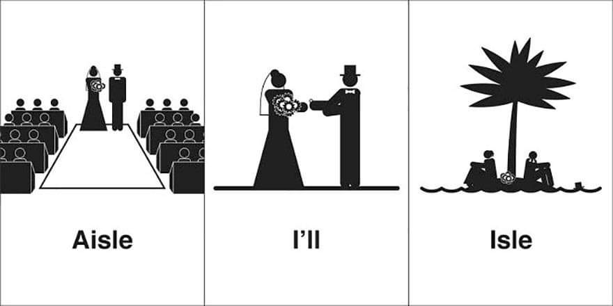 Clever Illustrations Of 'Same' Words By Bruce Worden (35 Pics)