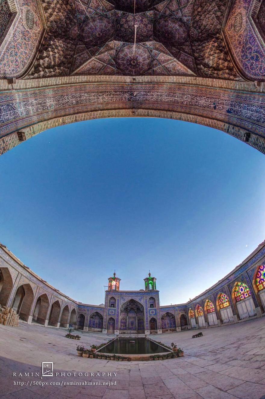 Most Amazing View Of Nasir Ol-mulk Mosque In Shiraz, Iran