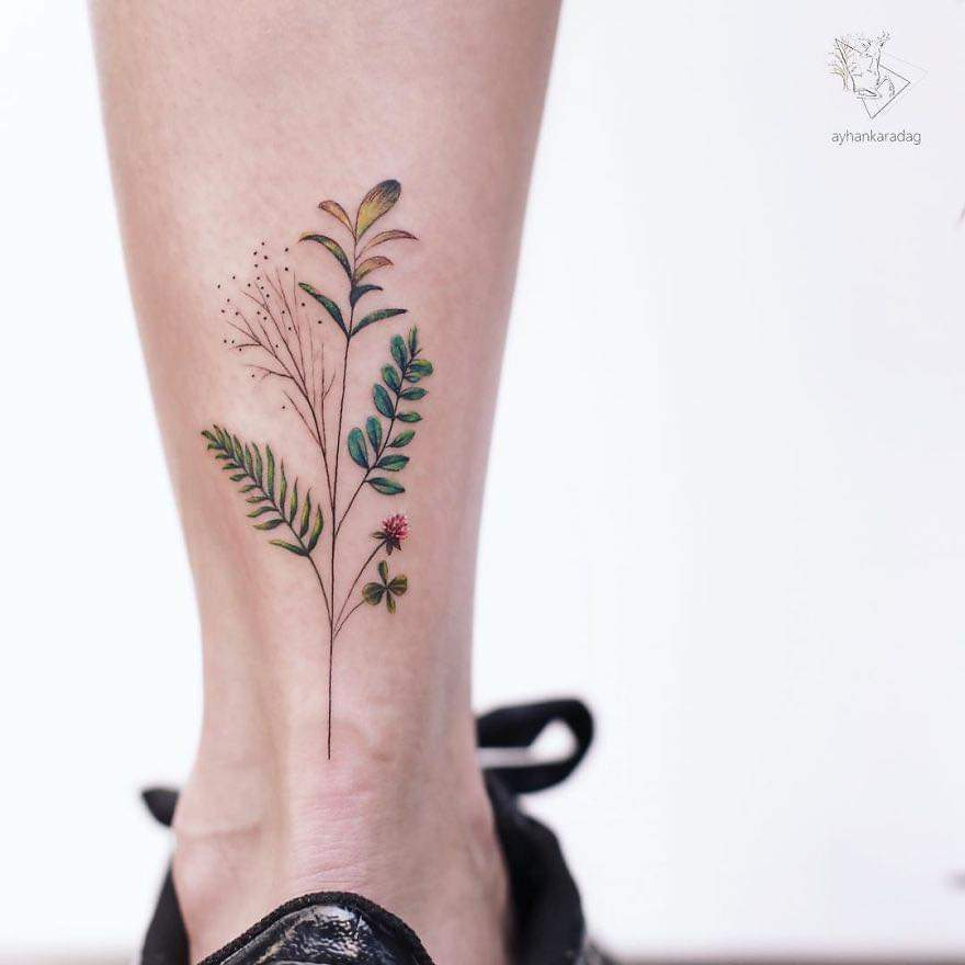 Cute Minimalistic Tattoos By Ayhan Karadağ (30 Pics)