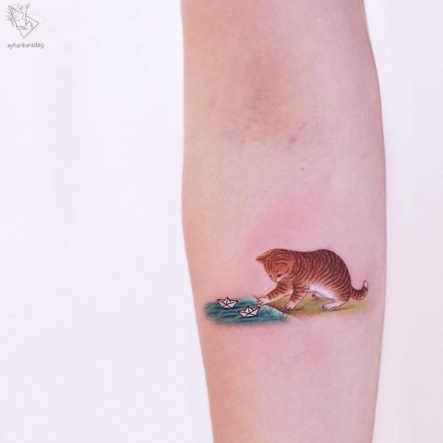 Cute Minimalistic Tattoos By Ayhan Karadağ (30 Pics)