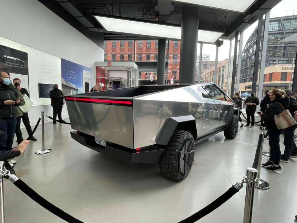 Tesla Cybertruck is on display in NYC (10 Pics)