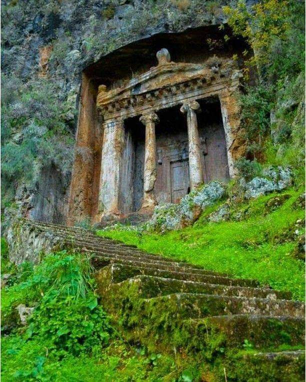 1Pic - Tomb of Amyntas in Fethiye, Turkey