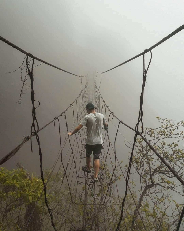 1Pic - Bridge in Mawsynram, Meghalaya, India