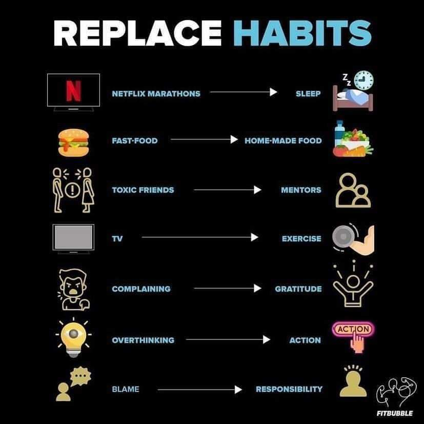 1Pic - Replace some unhealthy habits for healthy habits!