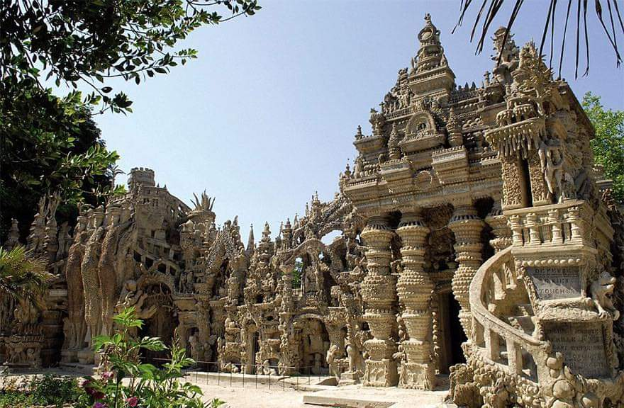 French Mailman Ferdinand Cheval, Spent 33 Years Building Epic Palace From Pebbles Collected On His 18-Mile Mail Route (10 Pics)