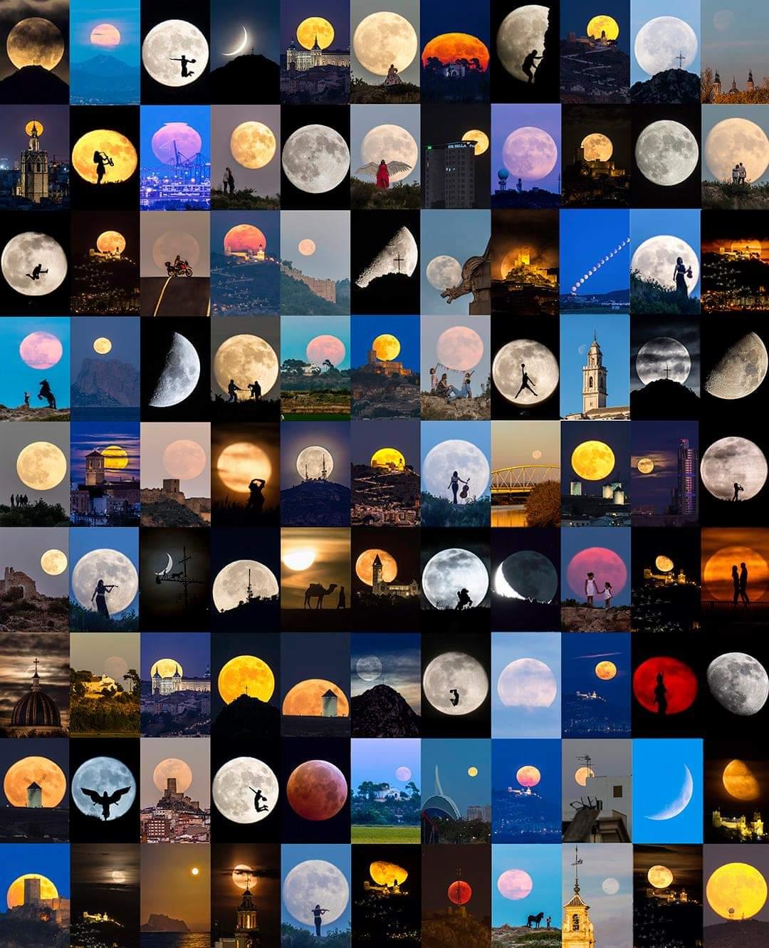 1Pic 1000 Words : Juan Antonio Sendra Captured 99 moons in 4years