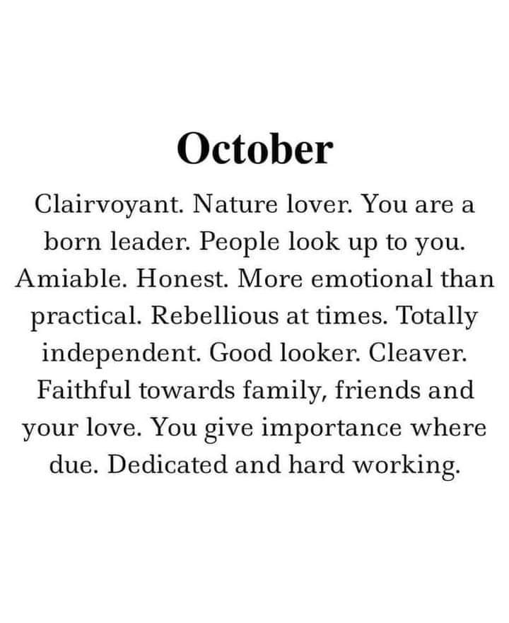 What does your birth month says about you?