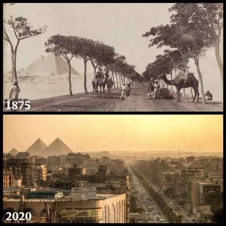 1Pic - Pyramid street in the past and now