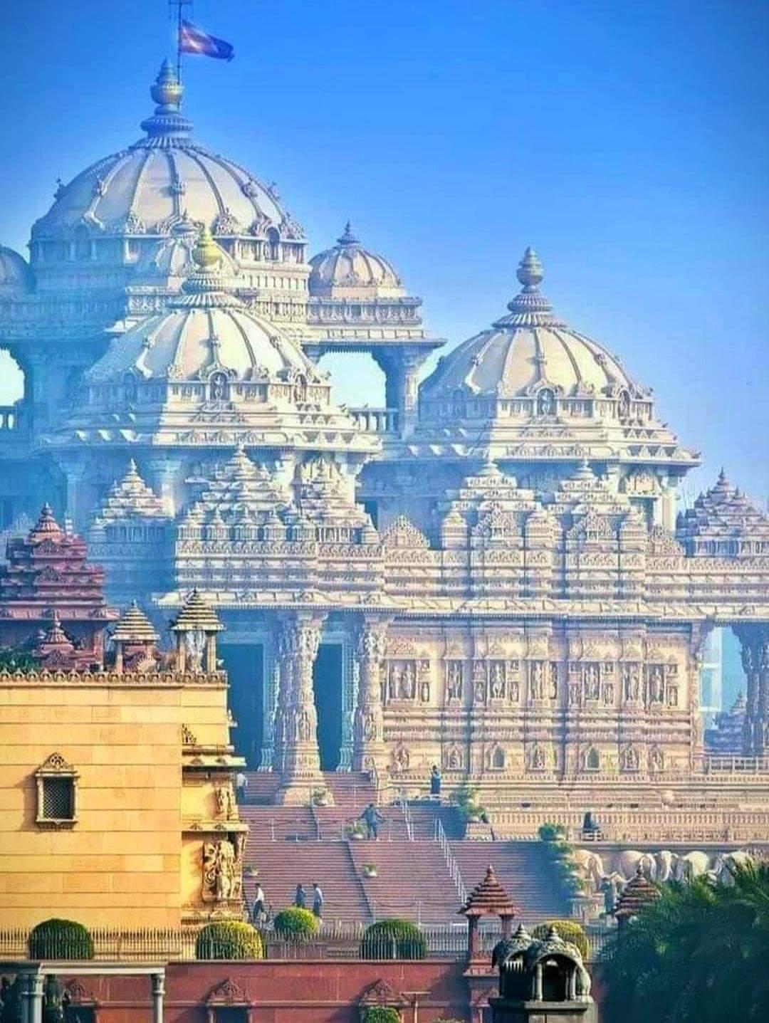 Beauty of Akshardham Temple, Delhi, India