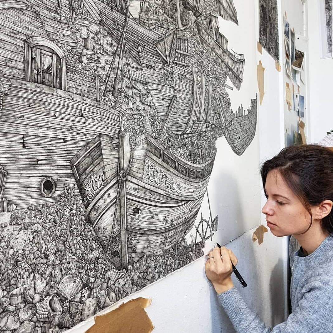 Amazing Collection of Linework and Deliberate Composition By Artist Olivia Kemp