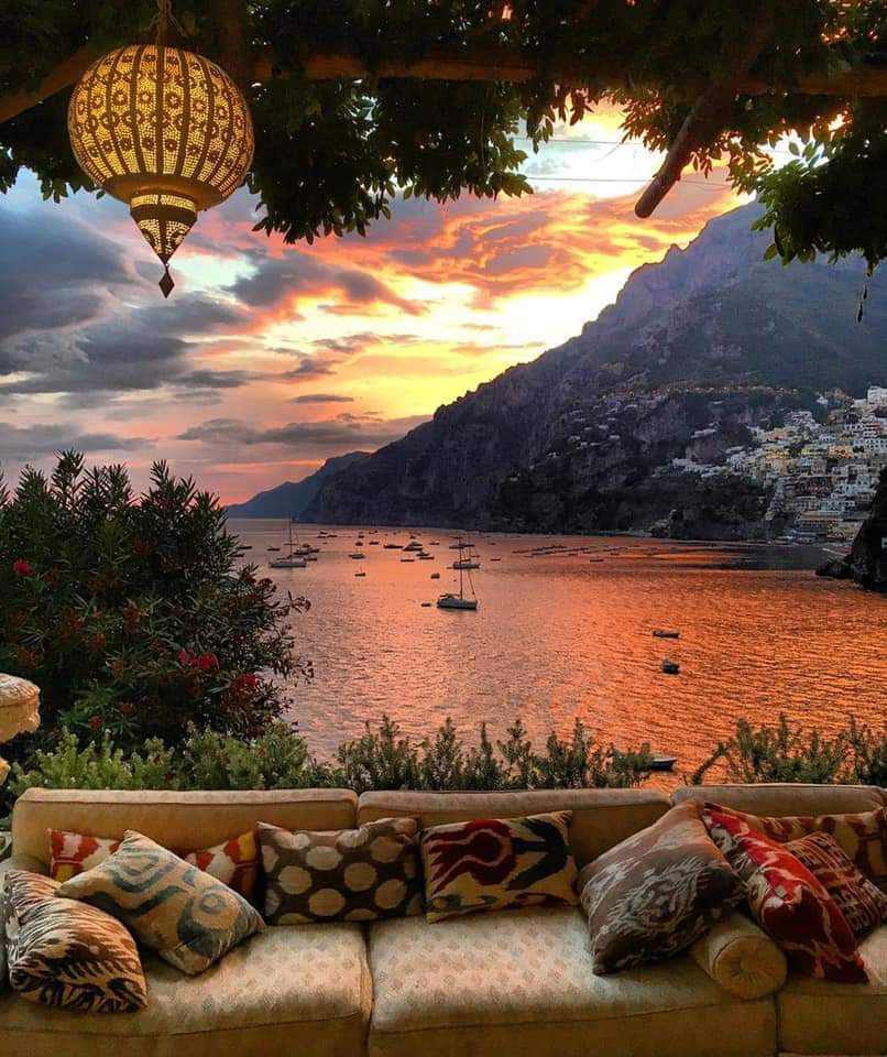 ONE Pic - A perfect sunset view in Positano, Italy