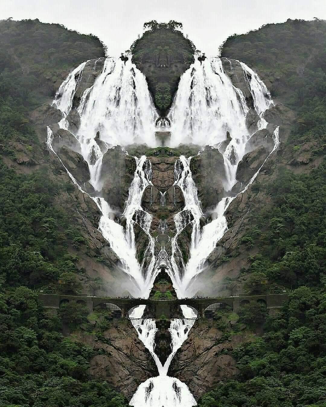 Dudhsagar Falls in Goa, India