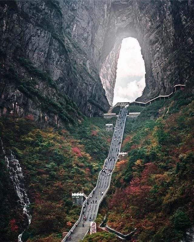 ONE pic - The Heaven's Gate on Tianmen Mountain, China