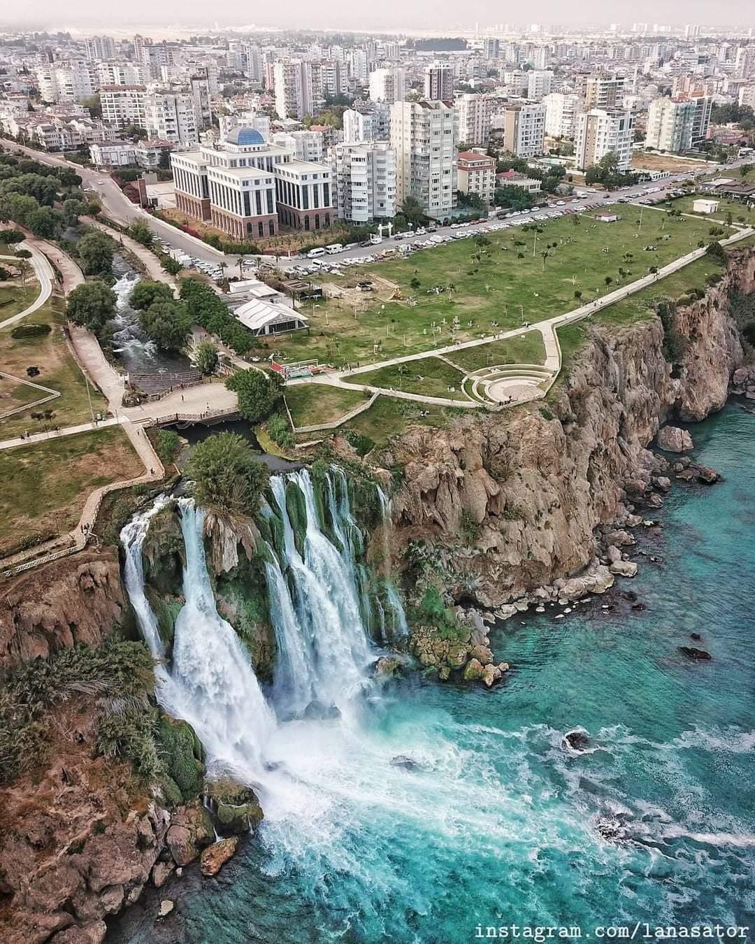 Most Amazing City waterfall in Antalya
