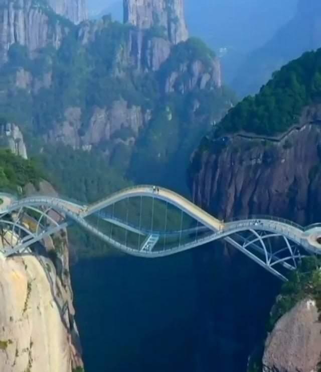 Beautiful ''Ruyi Bridge'', Shenxiaunju in Eastern China