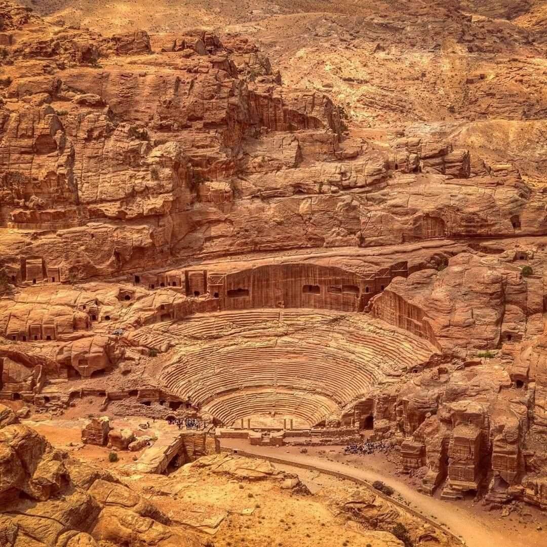 Extraordinary Petra Theater in Petra, Jordan