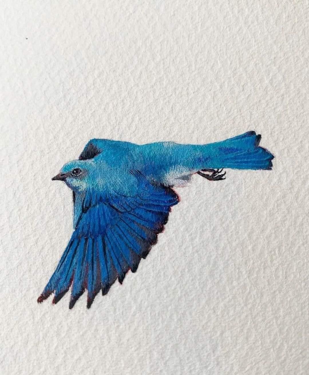 Beautiful birds by Artist Dina Brodsky
