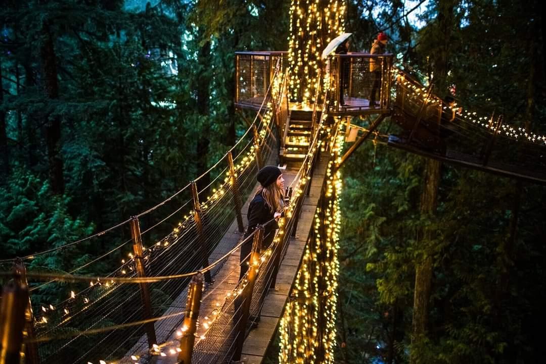Capilano's hanging bridge is North Vancouver