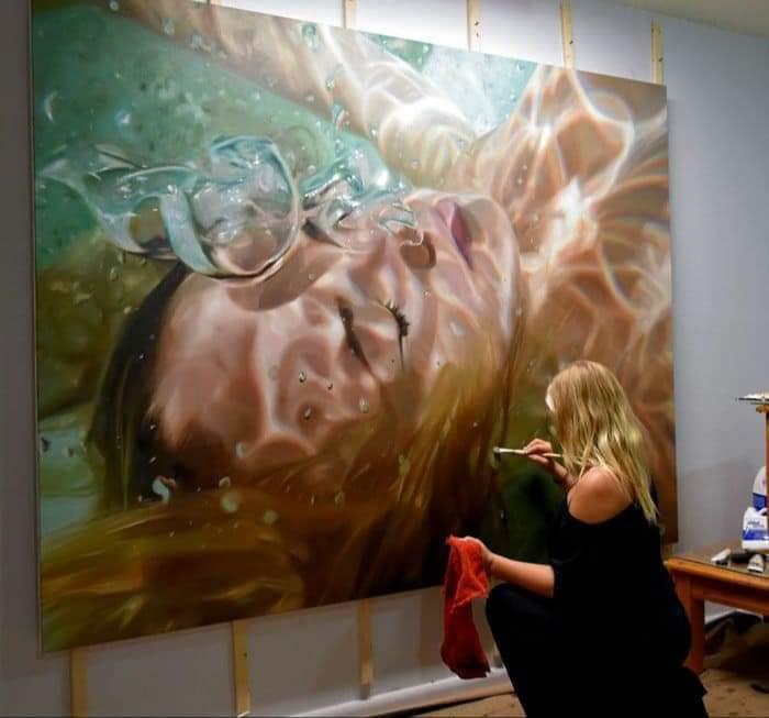 Profound realistic art  American Painter Reisha Perlmutter