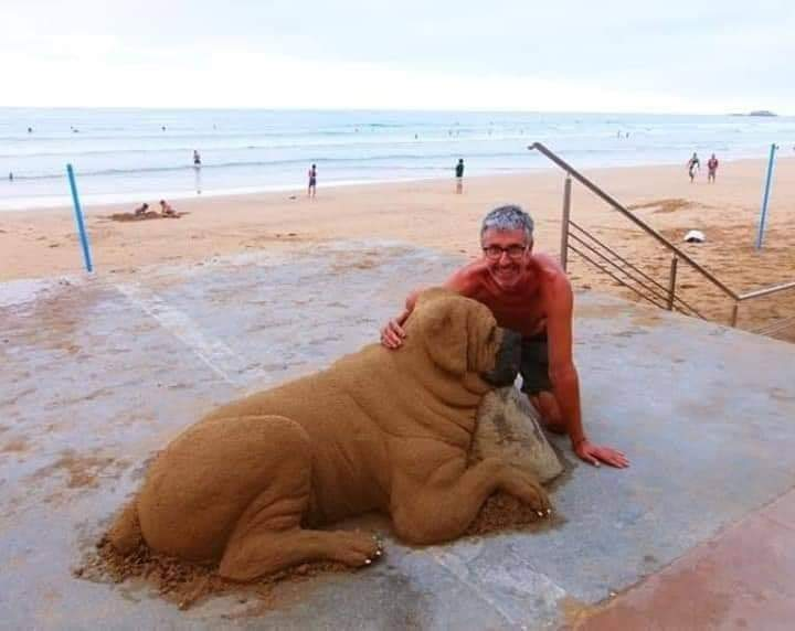 Amazing Sand Artist; Andoni Bastarrika