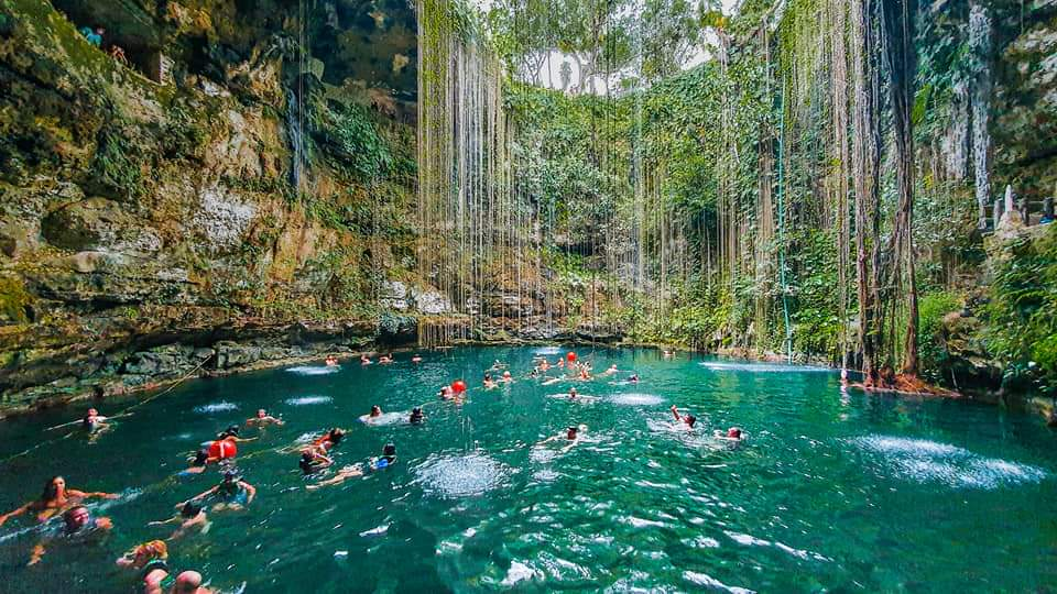 Most Beautiful Natural Swimming Pool in Mexico