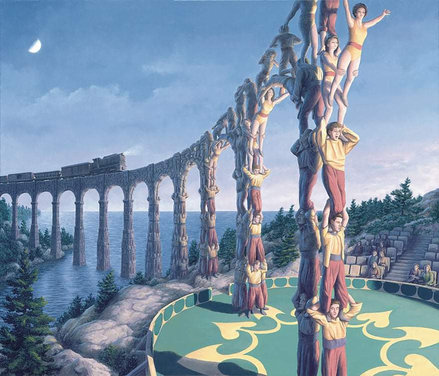 24 Mind-Blowing Optical Illusion Paintings By Rob Gonsalves