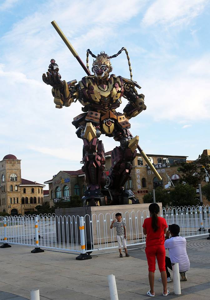 Stunning and Superb Giant Monkey-King-Shaped Transformer Statue