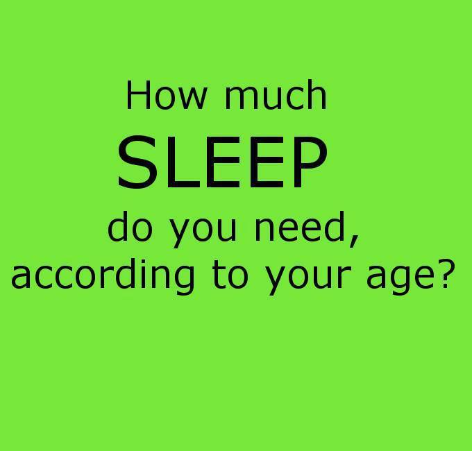 How Much Sleep Do You Need According to Your Age?