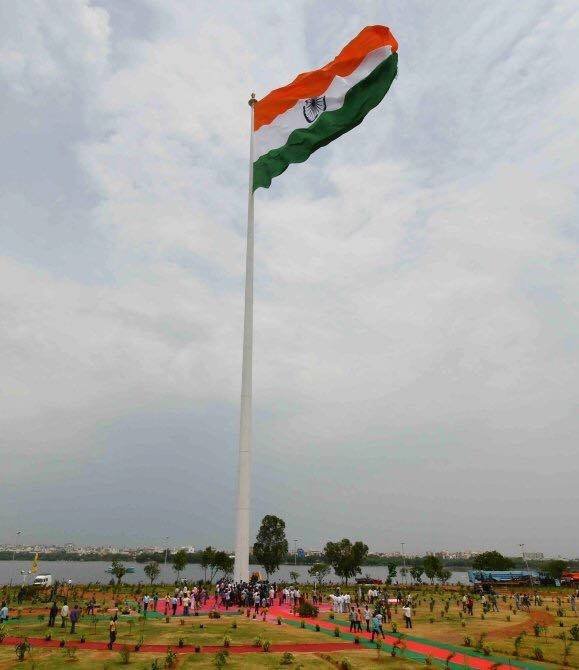 India's Largest And Tallest Flag Is Now In Hyderabad