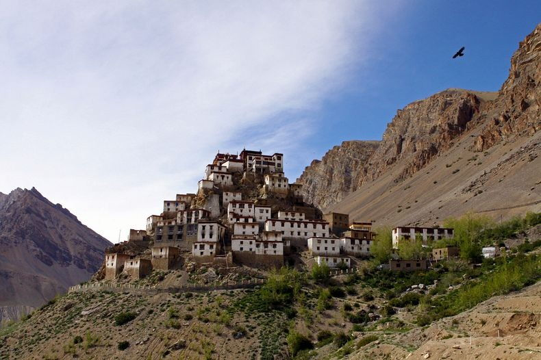Key Monastery (Kye Gompa), Himachal Pradesh in India