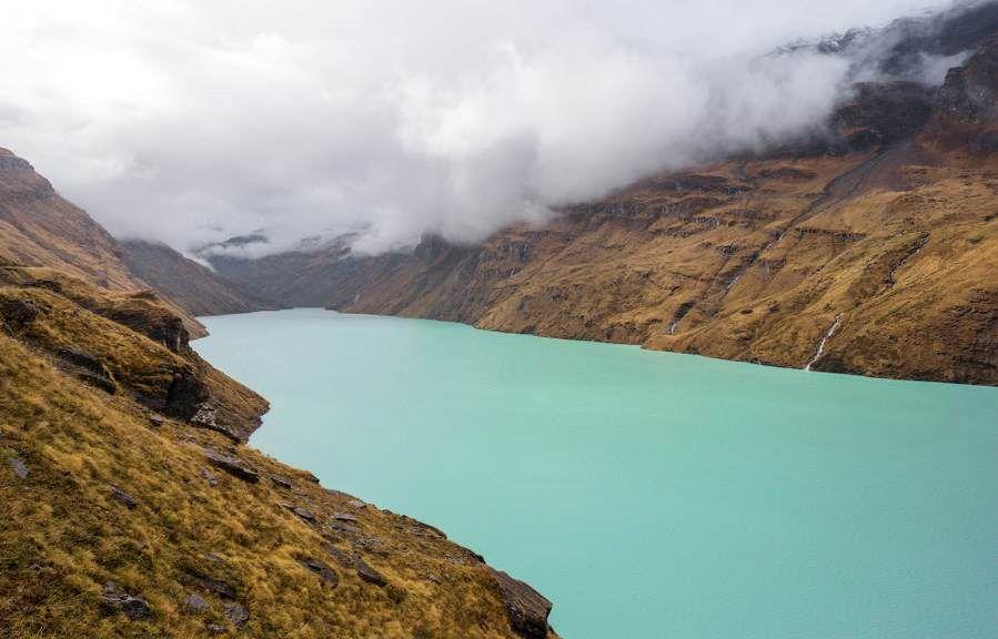 Mauvoisin Dam in the Beautiful Swiss Alps, Switzerland