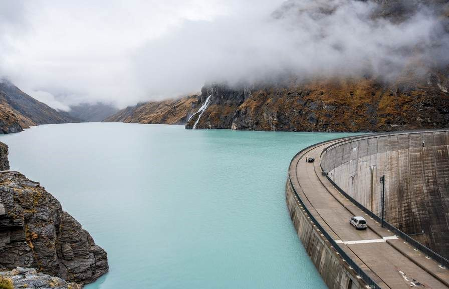Mauvoisin Dam in the Beautiful Swiss Alps, Switzerland