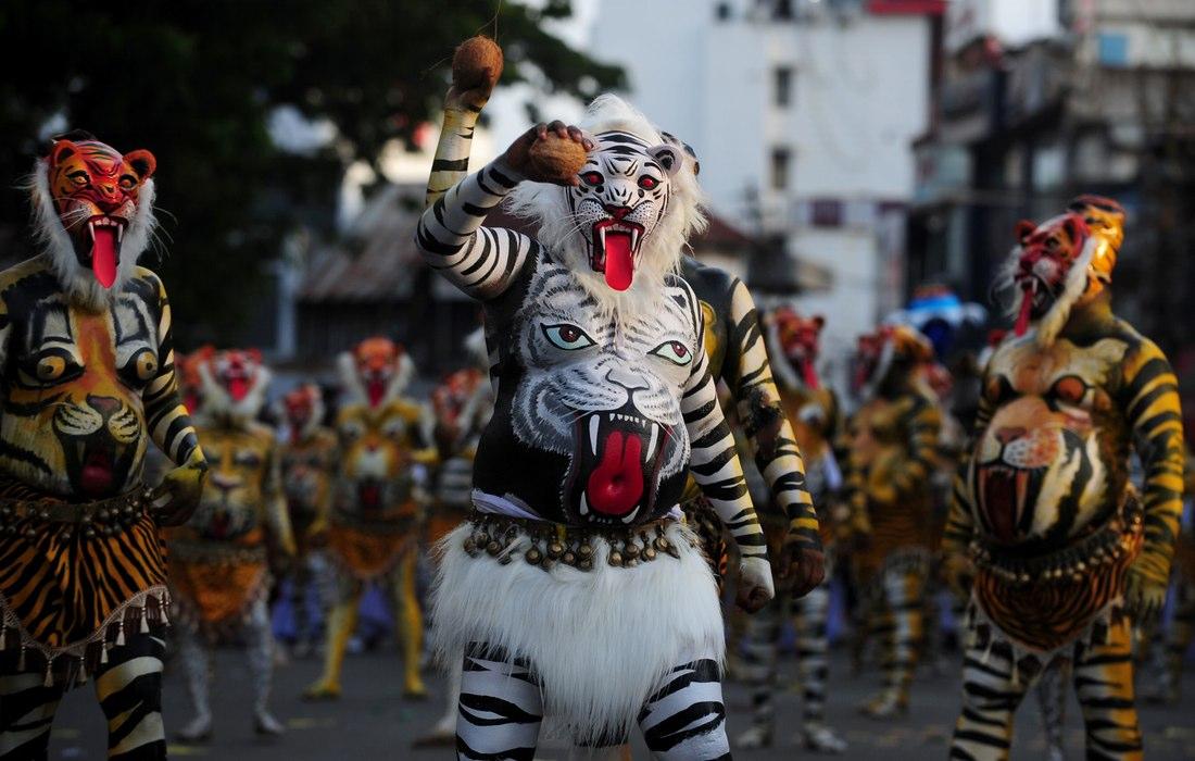 Onam Pulikali Celebrations in Kerala - 13 Pics