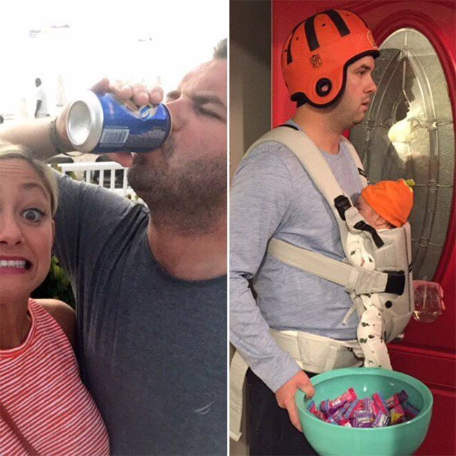 Hilarious: Parents Before And After Kids (18 Pics)